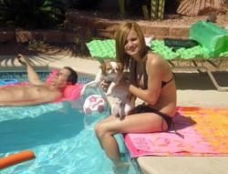 Gorgeous young babe in a tiny bikini..