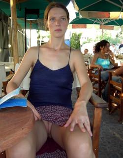 Sexy girls without panties, upskirt..
