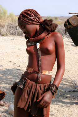 Wild young Aborigines. Naked african..