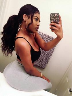Busty black girlfriends sexy selfie at..