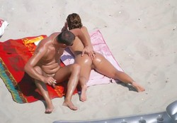 Beautiful summer wife sunbathing nude..