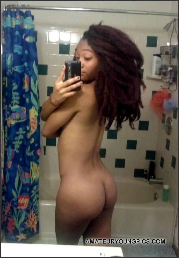 Ebony teen mirror pics nude